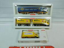 AU968-0,5# 3x Wiking H0 LKW: 518 Scania ASG+573 MB/Mercedes+552 Post, NEUW+OVP