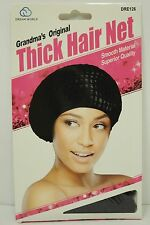 Black Thick Hair Net 100% Nylon Snood Hair Net Smooth Material