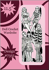 Vintage Barbie Crochet Pattern Design 7355