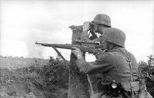 German Army Soldiers Russia 1942 Firing Rifle World War 2 Reprint Photo 6x4 Inch