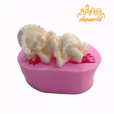 3D Fondant Cake Mold Silicone Mould Angel Baking Decorating Soap Molds Baby Girl