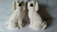 Pair Antique Victorian Staffordshire Dogs c1880 Spaniels