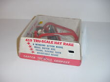 1/16 Vintage Tru Scale Side Delivery Rake by Carter (1970) W/Bubble Box!