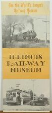 1973 Illinois Railway Museum Union IL vintage travel brochure b