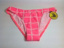 NEW WITH TAGS Body Glove Bikini Bottoms Hot Pink and White Checkered Sz S small
