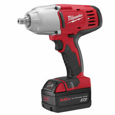 "Milwaukee 2662-22 M18 18V Cordless 1/2"" High Torque Impact Wrench with Pin Deten"
