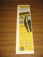 1949 Print Ad Shakespeare Wexford Fishing Line 43 Lb Trophy Muskie Musky