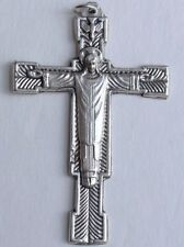 "Large Christ The Redeemer Crucifix 2.5"" Holy Spirit Jesus Pendant Rosary Making"