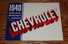 1940 Chevrolet Deluxe Sales Brochure 40 Chevy Special Master 85
