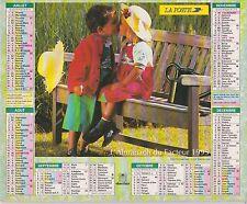 CALENDRIER ALMANACH des postes PTT 1995 deux amoureux