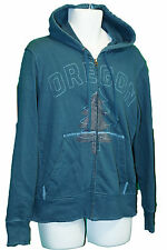 NIKE Mens Vintage OREGON Hoodie Cotton Fleece, Hooded Petrol Blue M