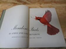 Menaboni's birds book & plates signed ed 1950 Anthos & Sara Menaboni HC 1950