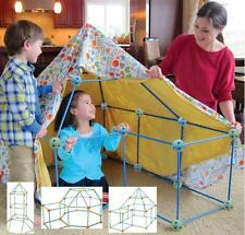 CHILDREN'S KIDS 72 PIECE  BUILD & PLAY CONSTRUCTION FORT TENT WENDY HOUSE DEN