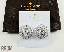 NWT Kate Spade Clear Stones Rise to the Occasion Stud Earrings