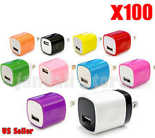 100x LOT Universal 1A USB home Charger Wall for iPhone Samsung HTC LG