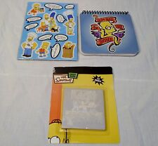 Lot Simpsons NEW Notepad, Sticky Notes, Pack of 14 Magnets 2007