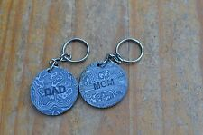 damascus christmas gift keyring for mom and dad from the Eagle Collection 7894