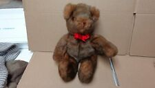 TY BEANIE STUFFED OLD FACE BROWN BEAR 11- INCH 1992 EXCELLENT (NO NAME TAG)