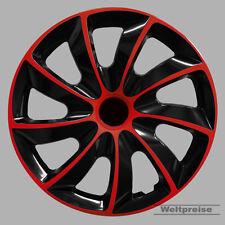 Radzierblenden 4 Stück Radkappen Quad Bicolor schwarz rot 14 Zoll