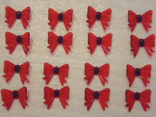 18 VINTAGE Red Bows Ceramic Christmas Tree Lights Bulbs Pegs  RARE  2 FREE