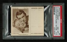 PSA 8.5 PRISCILLA LANE & CARY GRANT 1949 Dinkie Grips Card #8 COMPLETE WITH TAB