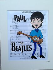 The Beatles - Paul McCartney - Hand Drawn & Hand Painted Cel