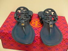 Women's tory burch slippers greek blue  miller veg nappa size 6.5 us new