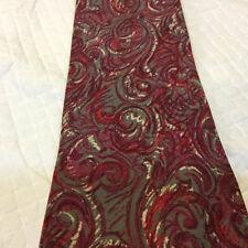 Vintage CHLOE Tie Silk Tie Swirl Design Pink, Red, Purple, Gray 100% Silk