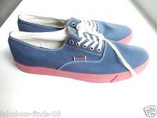 Men's Sebago Canvas lace up oxford sneaker Navy blue shoe sneaker size 9 NEW