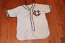 Vintage 1930's CORNELL University Big Red Game Used Flannel Baseball Jersey #6