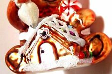 Ginger Bread Gingerbread Man Boy Baker Chef House Blown Glass Christmas Ornament