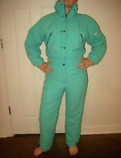 Vtg 80s 90s Green ELLESSE Womens 8 Medium Onesie Snow SKI SUIT Bib Coat Snowsuit