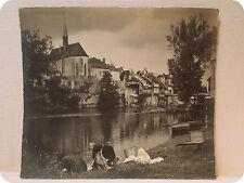 grande photo d' artiste originale cliché laveuses vers 1930