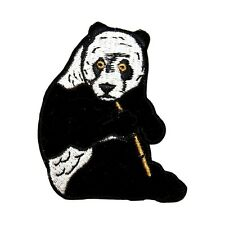 ID 0704 Giant Panda Bear Bamboo Zoo Animal Embroidered Iron On Applique Patch