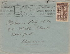 Lettre/Cover Voyage Inaugural SS Normandie, Le Havre a New-York 1935
