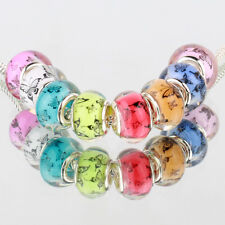 Butterfly multicolor 5pcs MURANO bead LAMPWORK For European Charm Bracelet