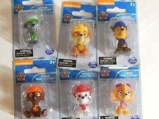 Paw Patrol Set 6 Mini Figures Rubble Chase Rocky Zuma Skye Marshall New in Box