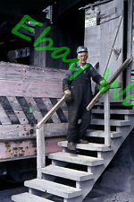 Copper Range Railroad Employee RR Yard Houghton Michigan 1963 AGFA 35mm Slide