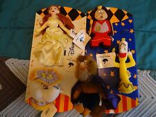 FIVE New Old Stock Club Disney Beauty and the Beast bb figures +2 gift sleeves
