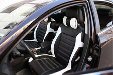 PU leather Car Seat Cover Needlework For all 5 seat car General Balck & White