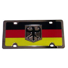 GERMAN FLAG Metal Mirror Finish Stainless Steel License Plate Sign Tag