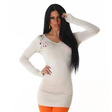 Sexy cuerda minivestido vestido de Jersey jersey con pedrería, s/M 34/36/38/40