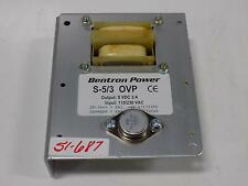 BENTRON POWER S-5/3 OVP POWER SUPPLY DK-3660