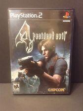 Resident Evil 4 Sony PlayStation 2 PS2 Game Complete Black Label Survivor Horror