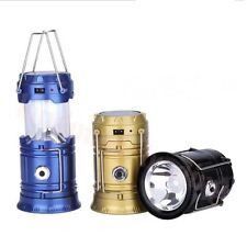 6 LED Portable USB Solar Rechargeable Lantern Outdoor Camping Hiking Lamp Light