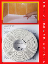 New 22mm x 3.35m Strip Bath Sink Basin Edge White Bath Wall Seal Strip UK Stock