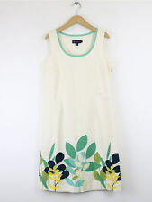 Boden Womens Ivory Cotton Appliqued Dress Size 10L
