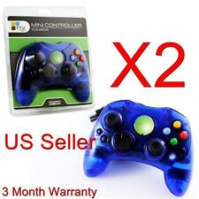 2 LOT NEW BLUE Controller Control Pad for Original Microsoft XBOX X BOX Sys