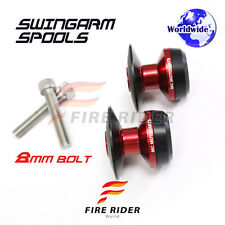 8MM CNC Red Swingarm Spools Set For Triumph Street Triple 675 /R 11-16 12 13