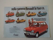 advertising Pubblicità 1973 RENAULT 5 /4/12/16/6/15/177 COUPE'